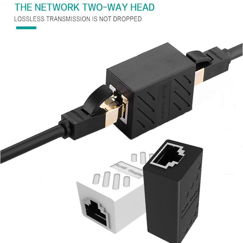 2 Pcs Rj45 Lan Network Cable Joiner Connector Adapter Extender Plug Coupler Go Shop Electronics Pc Computer Computer Components Network Cable
