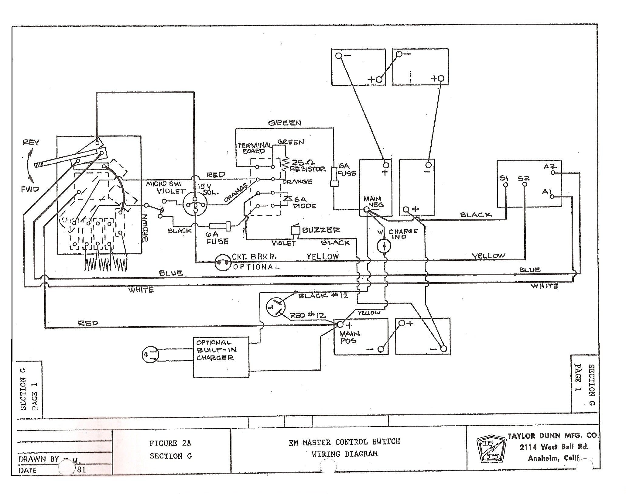 harley davidson gas golf cart wiring diagram [ 2061 x 1626 Pixel ]