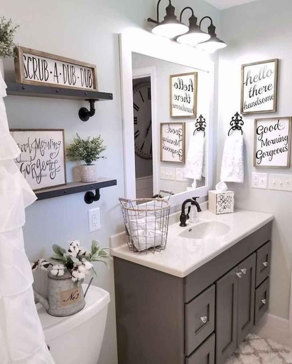 Awesome 50 Modern Farmhouse Bathroom Decor Ideas Source Link Https Decortutor Com 7634 50 Mo Guest Bathroom Decor Bathroom Mirror Modern Farmhouse Bathroom