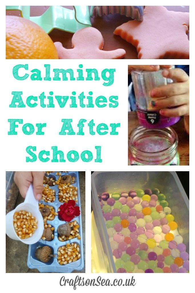 Calming Activities For After School These easy calming activities for after school are great for young kids or preschoolers that need to wind down at the end of the day.These easy calming activities for after school are great for young kids or preschoolers that need to wind down at the end of the day.