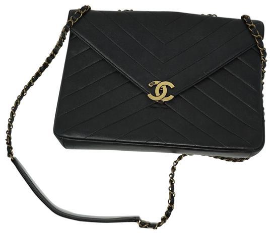Chanel Handbag Classic Flap Coco Envelope Chevron Medium Black Lambskin Leather Shoulder Bag 29 Off Retail In 2020 Chanel Handbags Classic Leather Shoulder Bag Chanel Handbags
