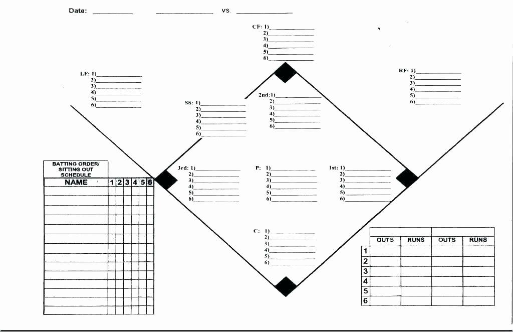 Free Printable softball Score Sheets Best Of Baseball
