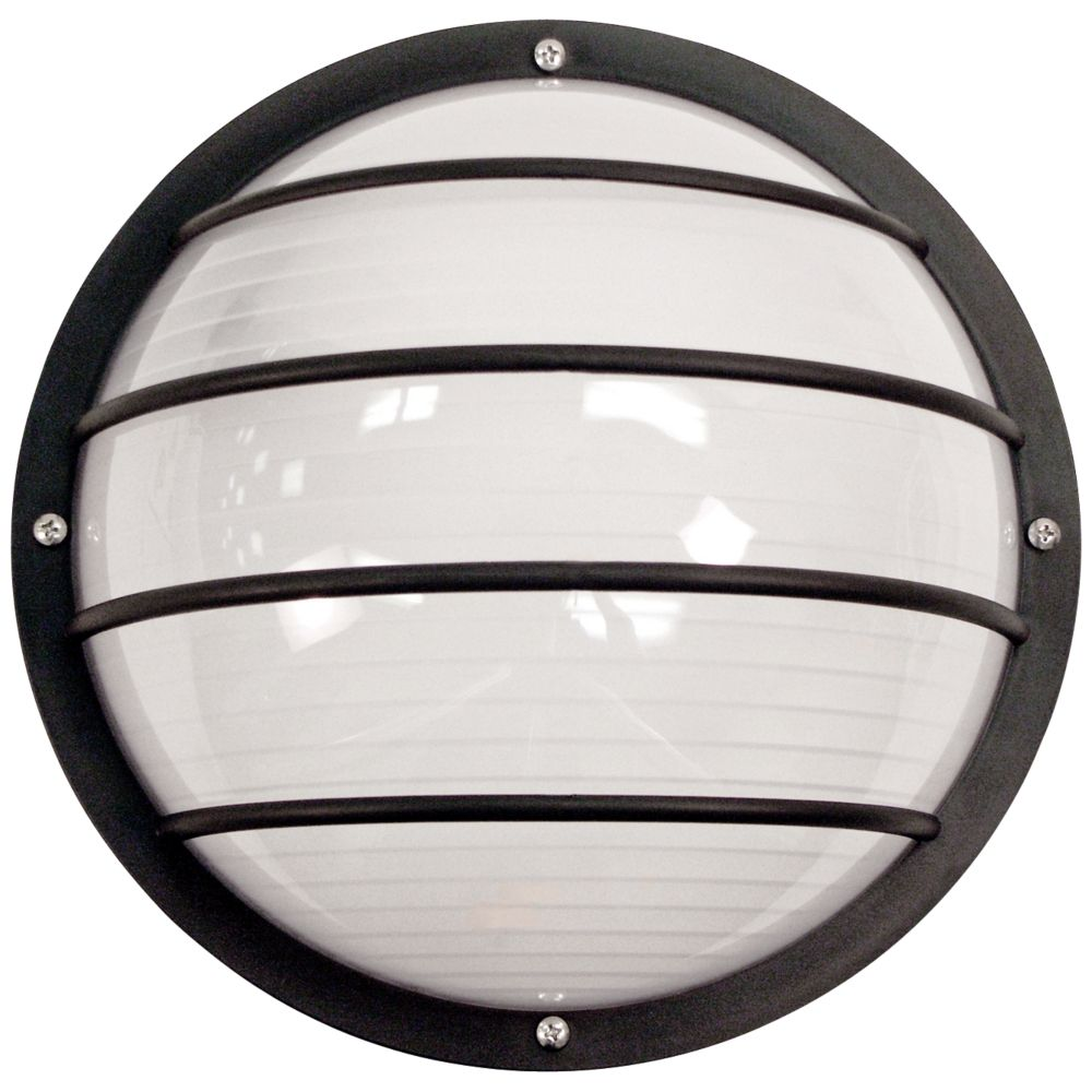 Wave nautical round black outdoor ceiling or wall light style