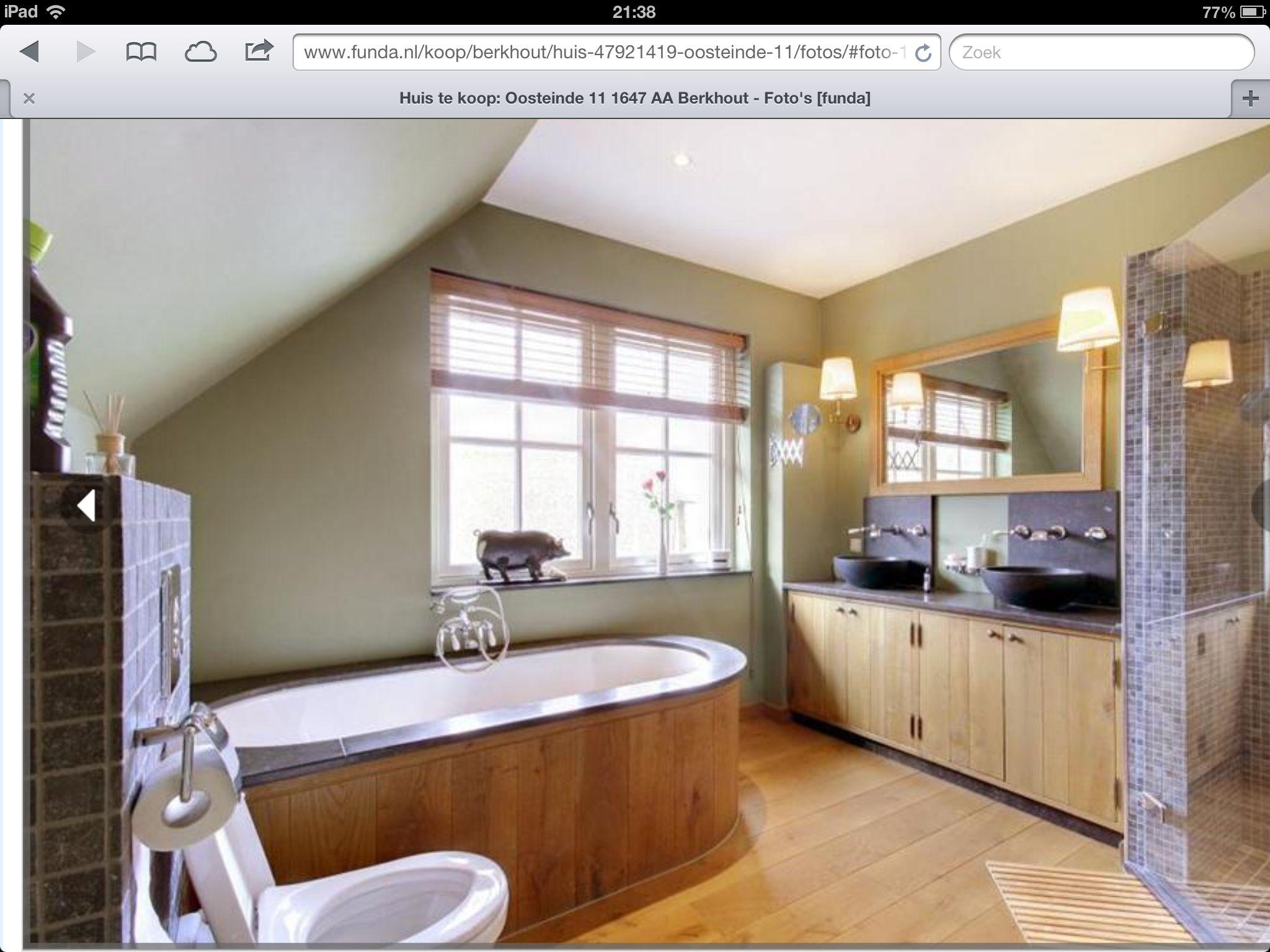 Badkamer Hout Natuursteen : Luxe badkamer met gebruik van natuursteen en hout inspiratie