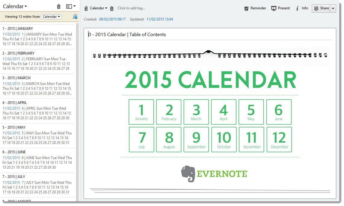 Table of contents for evernote calendar productivity pinterest table of contents for evernote calendar maxwellsz
