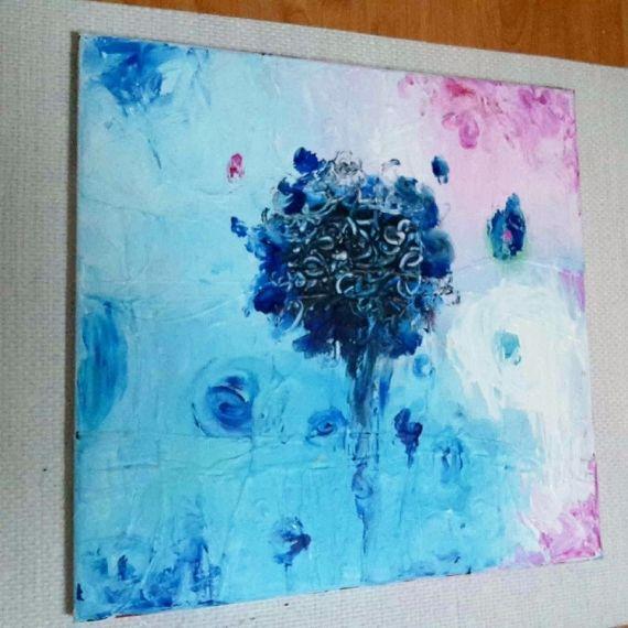 Tableau peinture abstrait acrylique moderne peinture abstrait acrylique tableau sur toile - Tableau peinture acrylique moderne ...