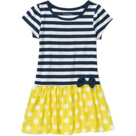 19fa6228419c1 Healthtex Baby Toddler Girl Knit Essential Dress, Size: 5 Years, Yellow