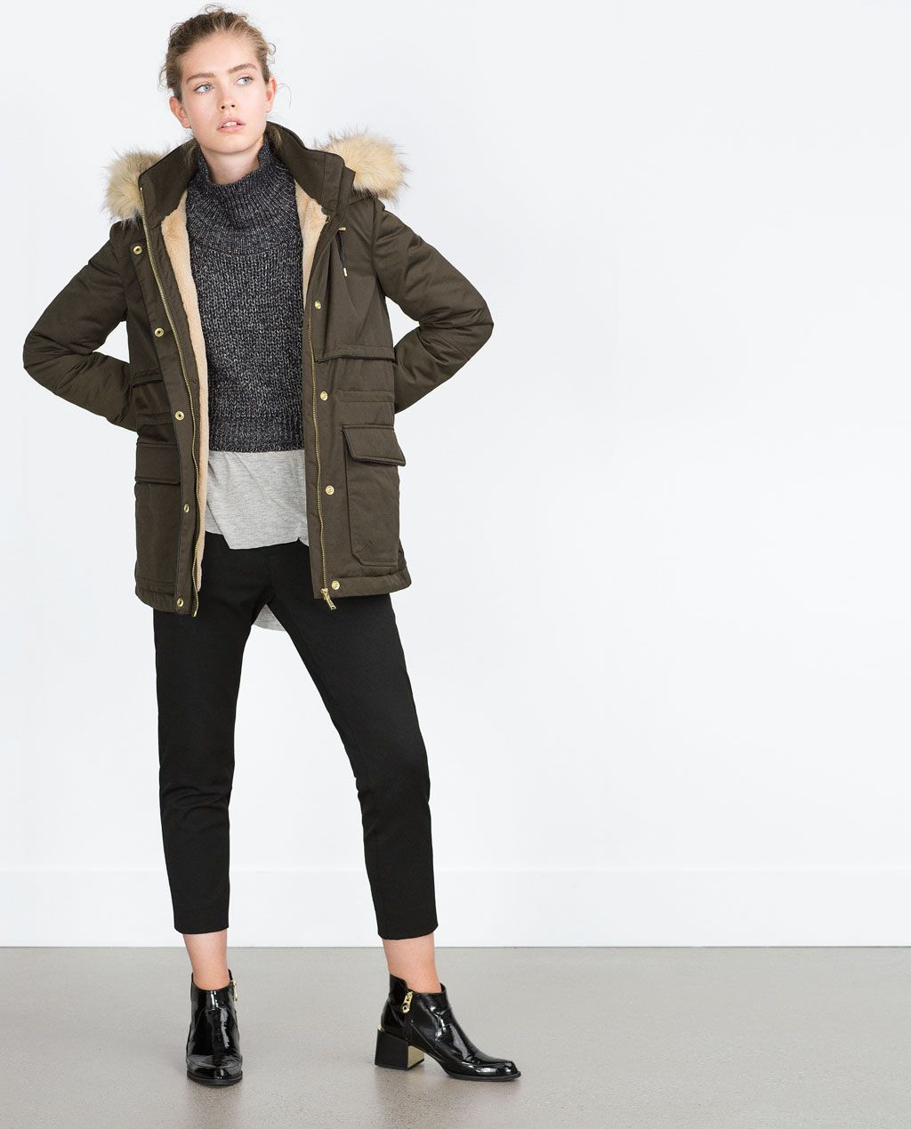 SHORT QUILTED JACKET-Parkas-Outerwear-WOMAN | ZARA United States ...
