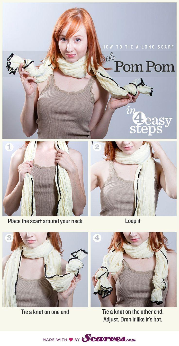 Conseils de mode comment nouer une écharpe longue, un écharpe pashmina de  grande taille pour un homme ou pour une femme, bien la porter autour du cou. 96476e79e70