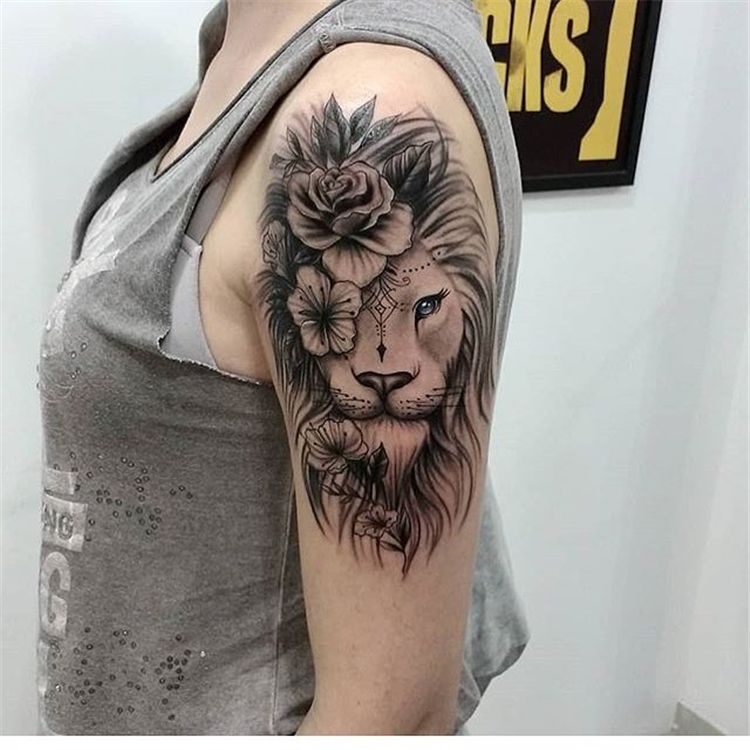 Animal Chicbetter Cool Ideas Inspiration Modern Tattoo Women 53 Cool Animal Tattoo Geometric Tattoo Shoulder Shoulder Tattoo Shoulder Tattoos For Women