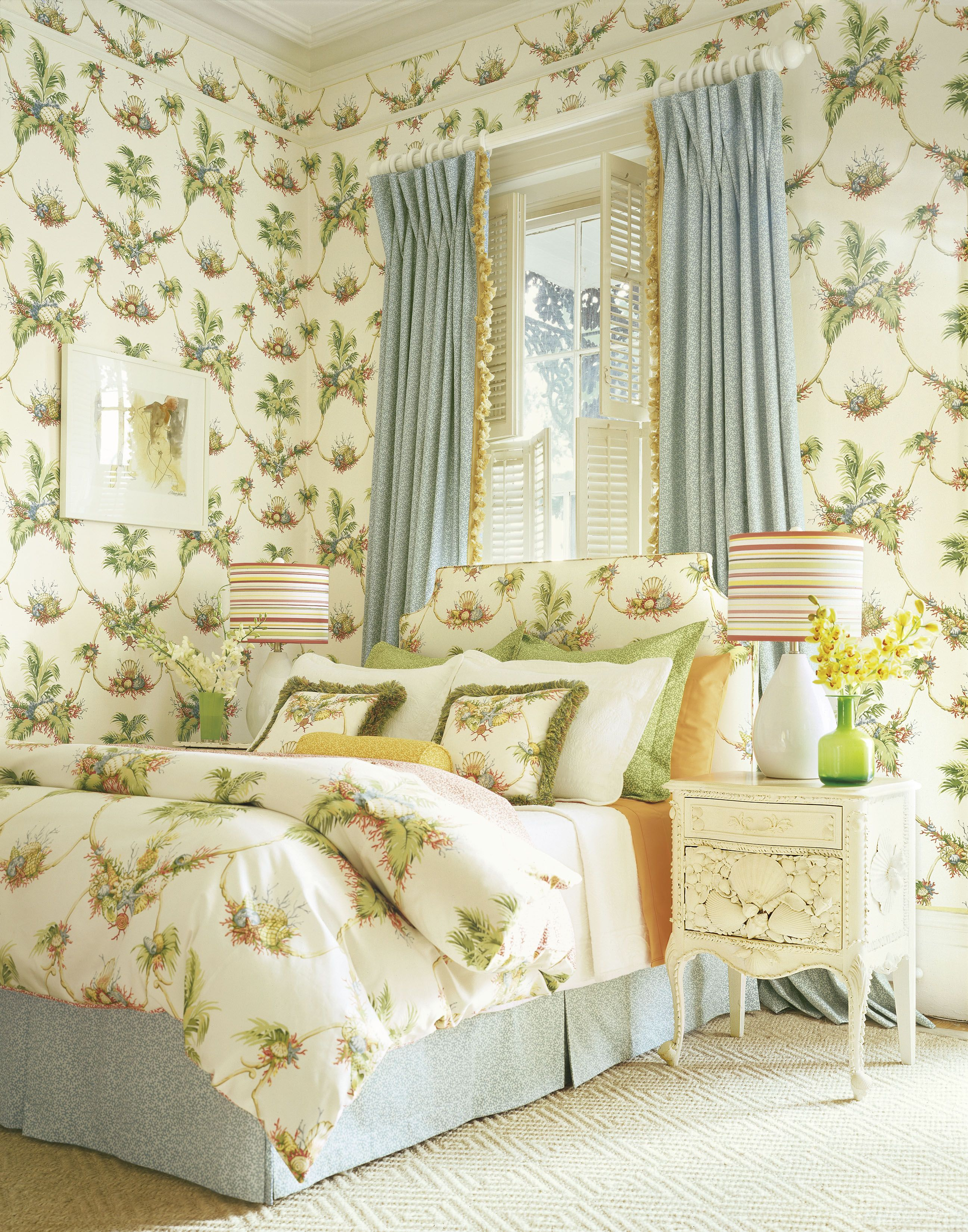 Sand Key #wallpaper and matching #fabric in #white from the Laguna ...