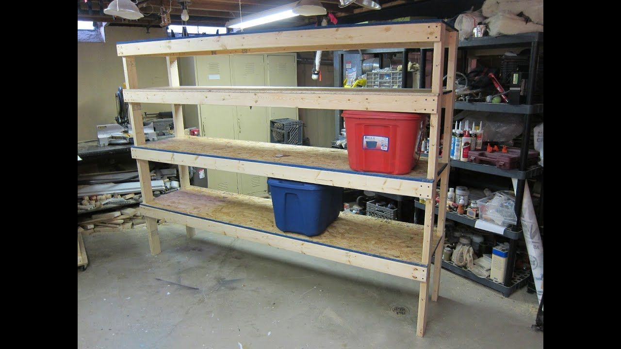Storage Shelf Cheap And Easy Build Plans Youtube With Images Easy Shelves Diy Garage Storage Cabinets Diy Garage Storage
