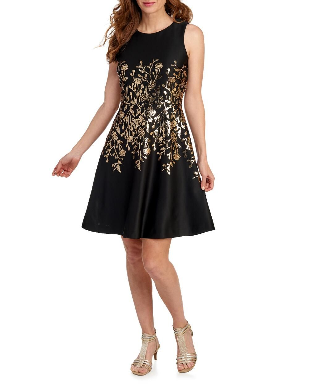 Sequin Vine Fit Flare Dress Evening Formal Shop By Occasion Dresses Stein Mart Flare Dress Fit Flare Dress Dresses [ 1250 x 1000 Pixel ]