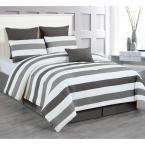 Darby Charcoal-Grey 7-Piece Queen Comforter Set