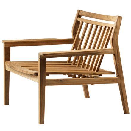 Loungestol L201 – Natur teak Sammen havemøbler i dansk design fra ...