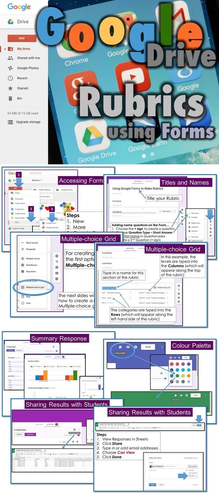 Google form rubrics teaching technology google