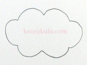 Keçe Bulut Kalıbı Bulut Kalip 280x209 Baby Room Carta Modello