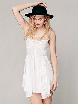 Intimately Strappy Front Fit and Flare Slip at Free People Clothing Boutique