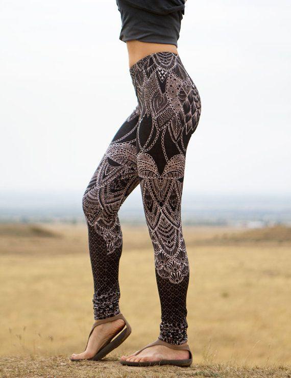 African Inspired Yoga Leggings. Tribal Yoga Leggings. djrLZZDVQ