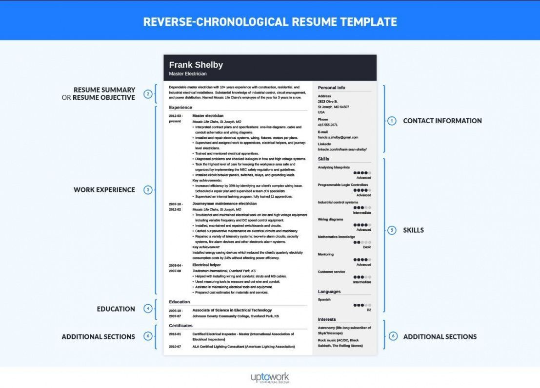 Explore Our Sample of Chronological Order Resume Template