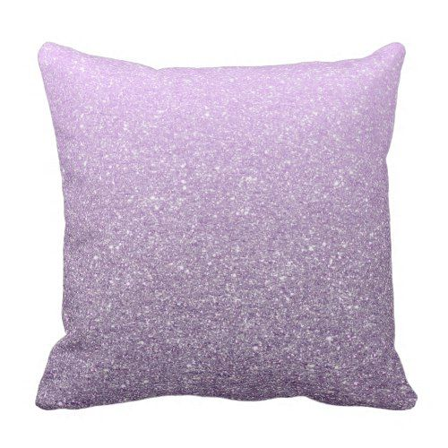 Girly Lavender Faux Glitter Pattern Cute Modern Throw Pillow Inspiration Girly Decorative Pillows