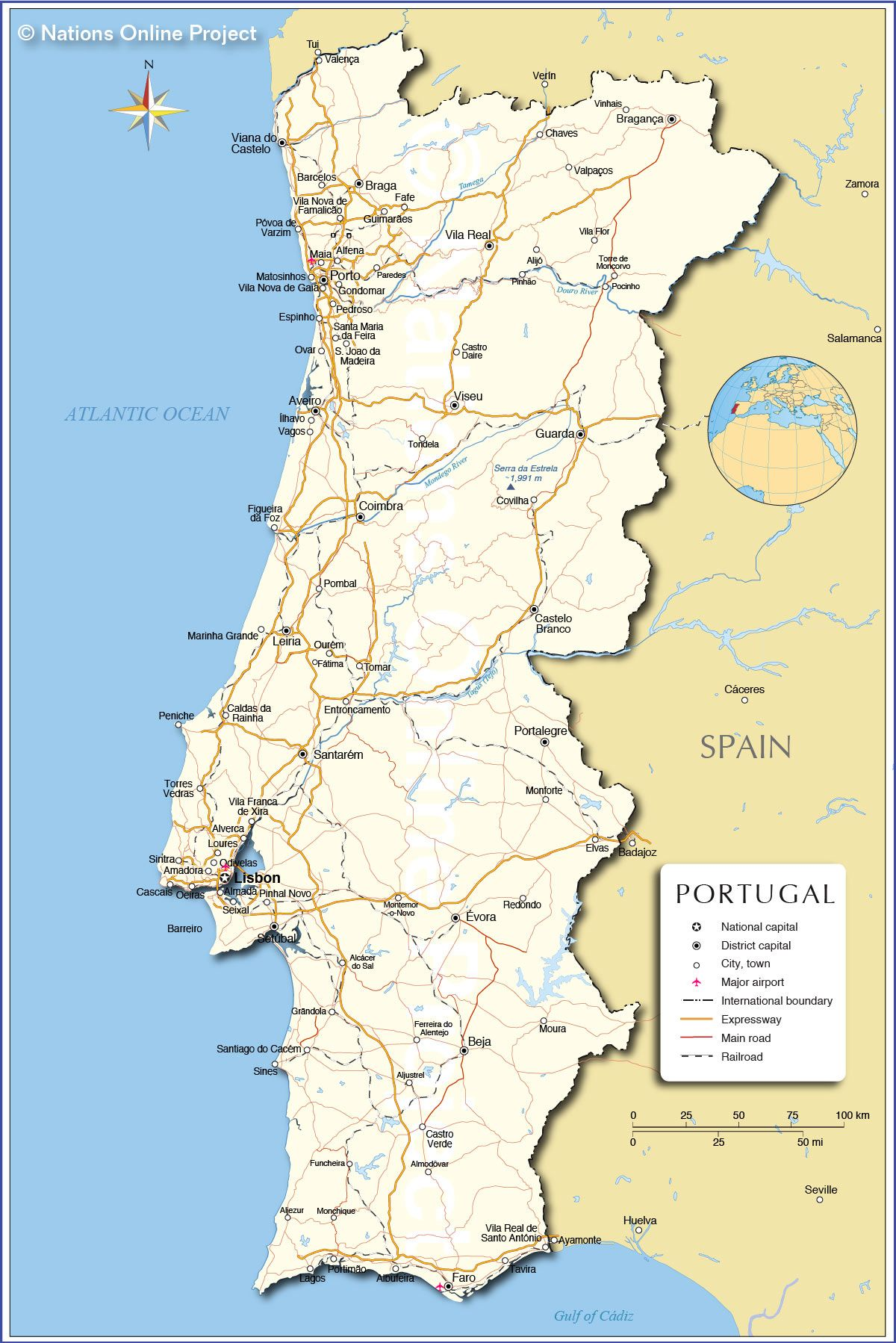 A full map of Portugal just so know that yes its indeed a – Portugal Tourist Map