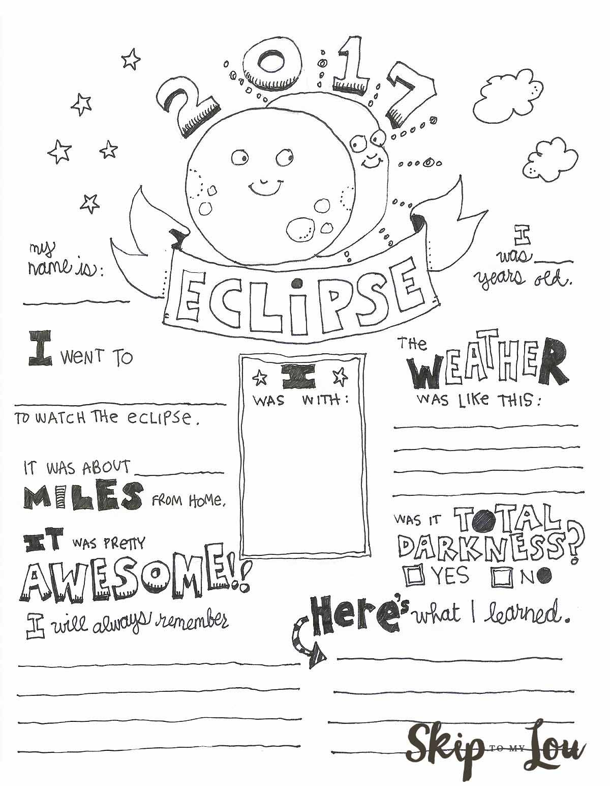 Solar Eclipse Coloring Page Also Known As An Eclipse