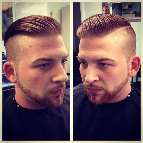 Hair Haircut Undercut Slickback Hardpart Facialhair Lineup