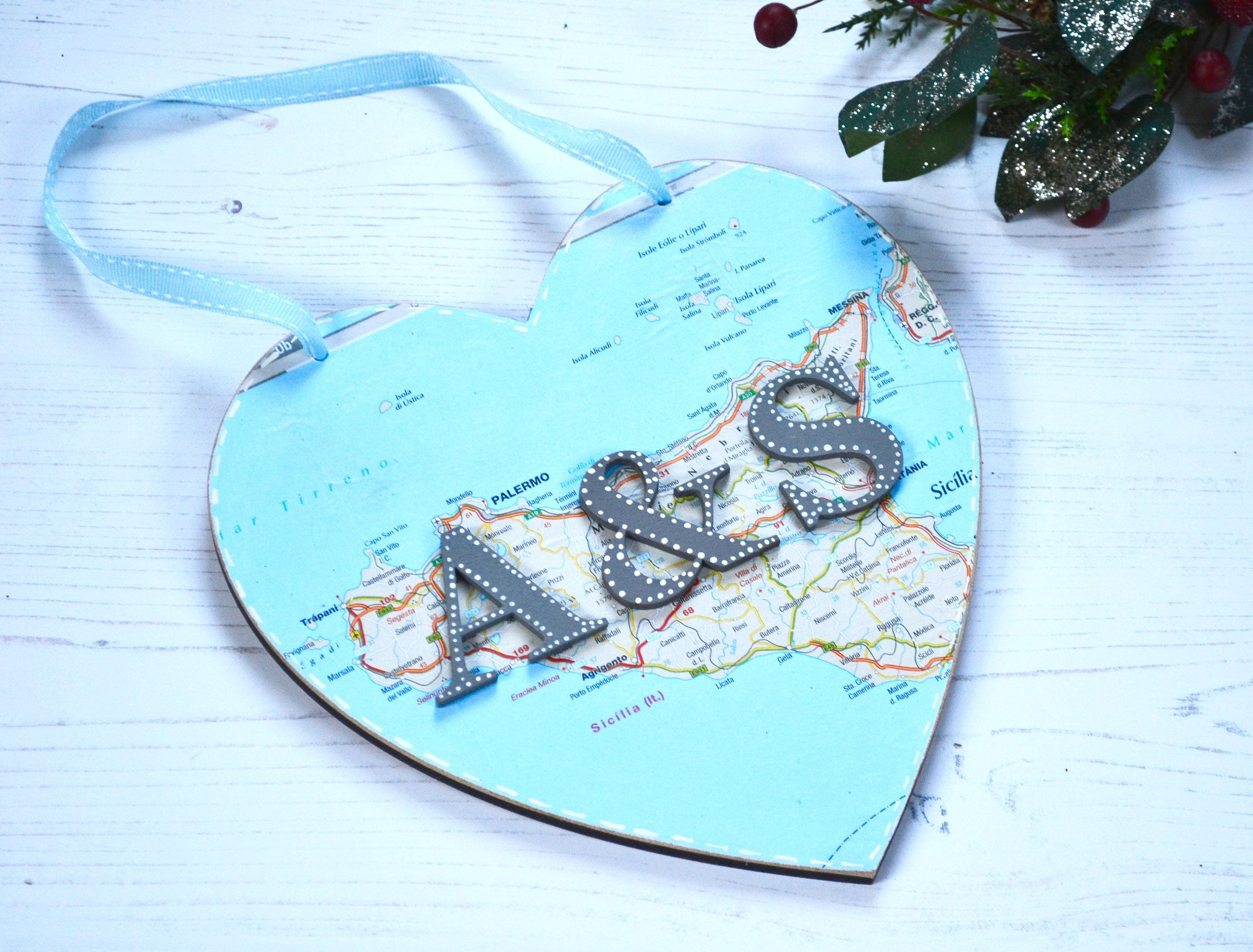 Gift for Husband Travel Gift - Map Heart - Gift for couples ...