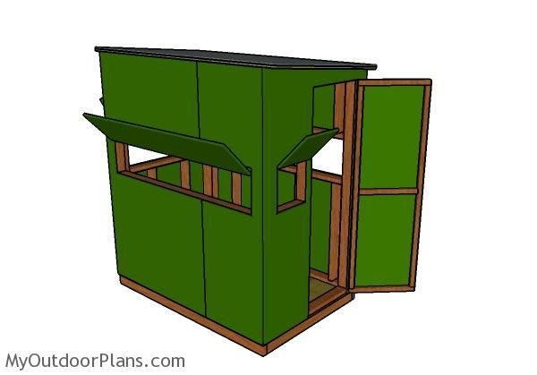 Deer stand plans 4x6 | Deer Blinds | Deer blind plans, Hunting