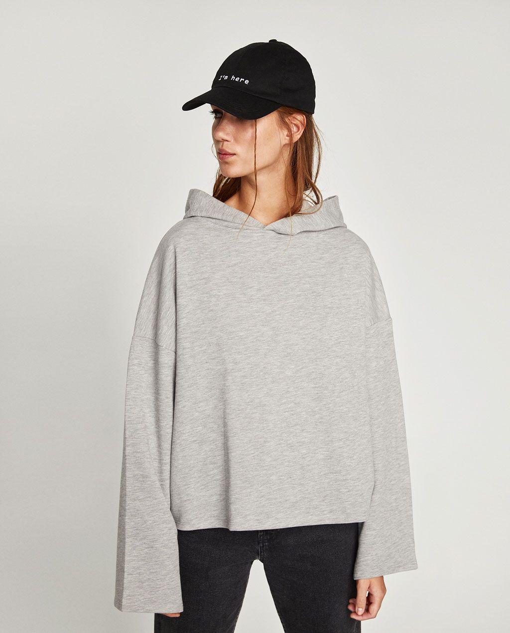 Hooded sweatshirtsweatshirtswoman zara united states