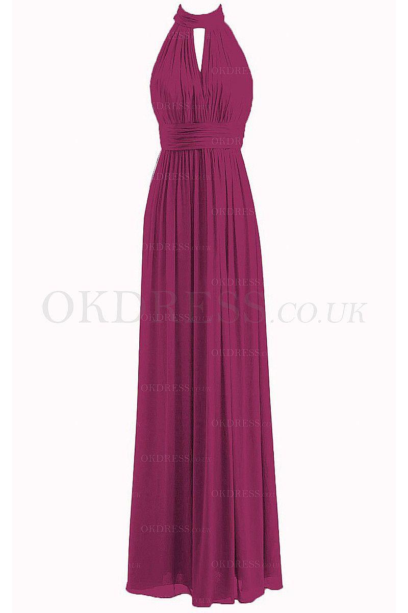 Chiffon Natural A-line Zipper Floor-length Bridesmaid Dresses - by ...
