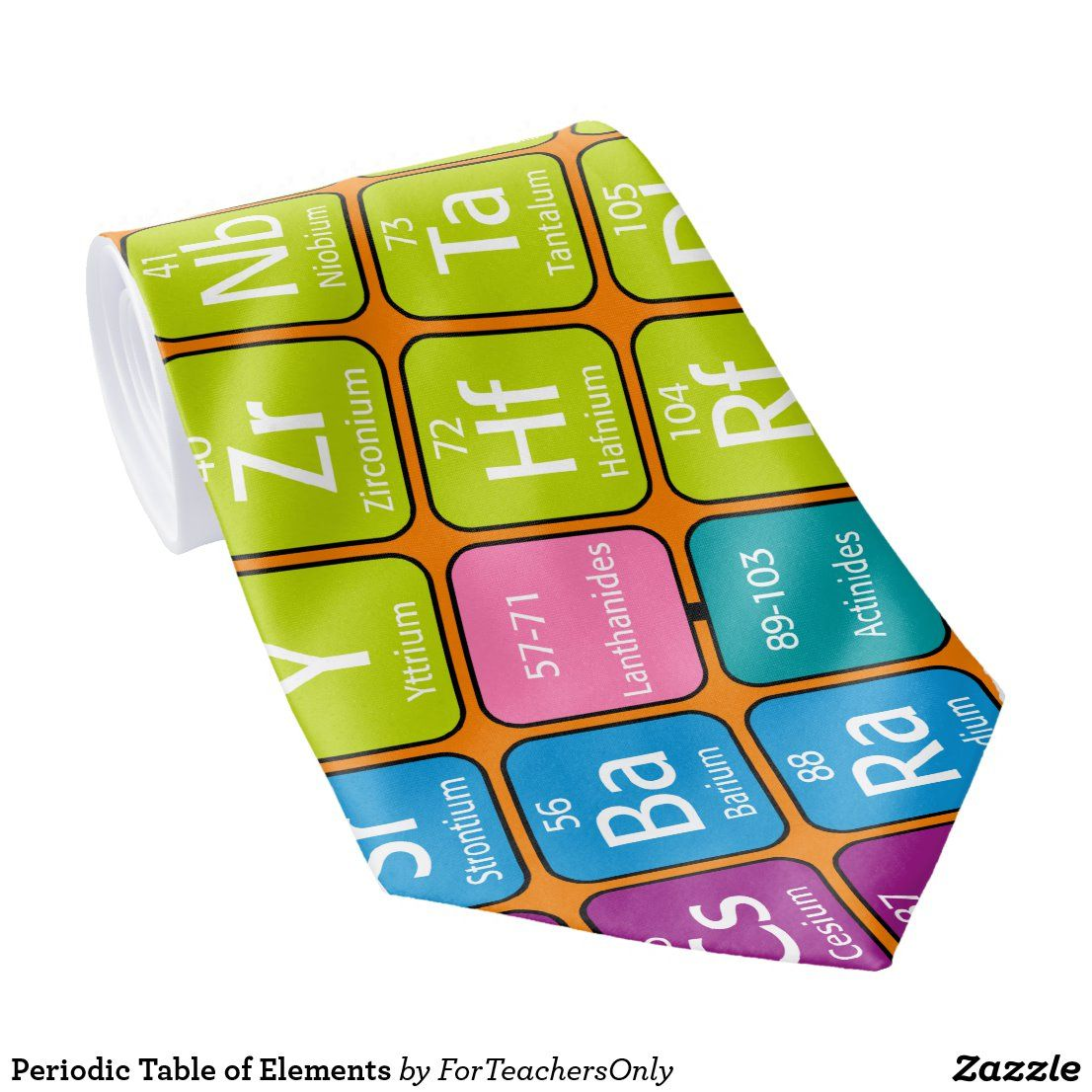 Periodic Table of Elements Neck Tie in 2020