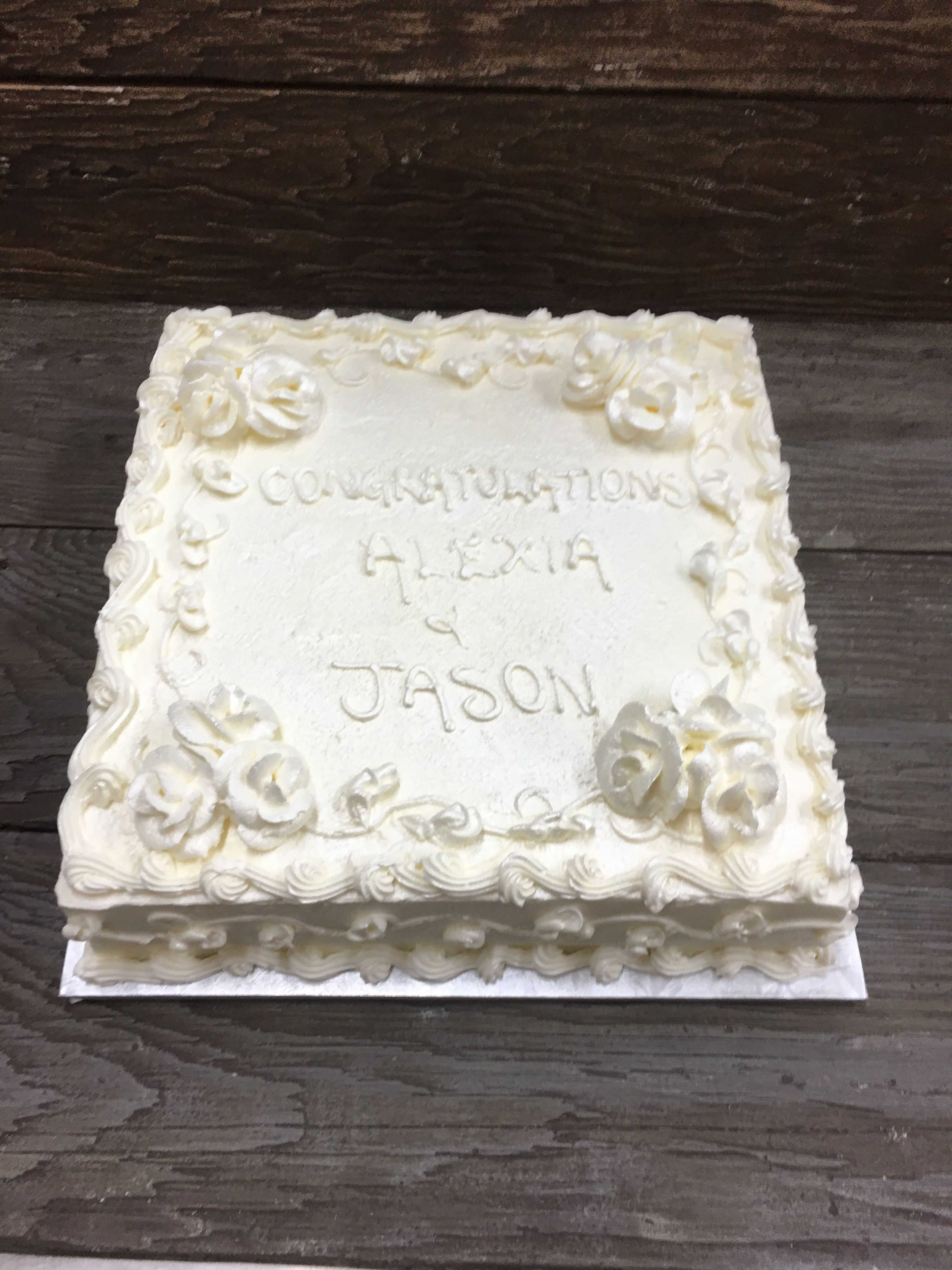 Prime White Square Birthday Cake 584 By Select Bakery With Images Funny Birthday Cards Online Overcheapnameinfo
