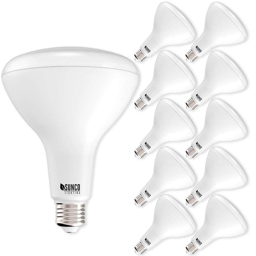 Sunco Lighting 10 Pack Br40 Led Bulb 17w 100w Dimmable 5000k Daylight E26 Base Flood Light For Home Led Outdoor Flood Lights Led Bulb Outdoor Flood Lights