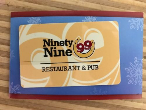 25 The Ninety Nine 99 Restaurant Pub Gift Card Gift Card Gift Coupons Gifts
