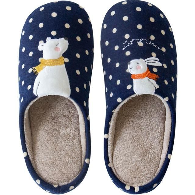 Photo of Winter Warm Home Fur Slippers – 503 Blue / 40