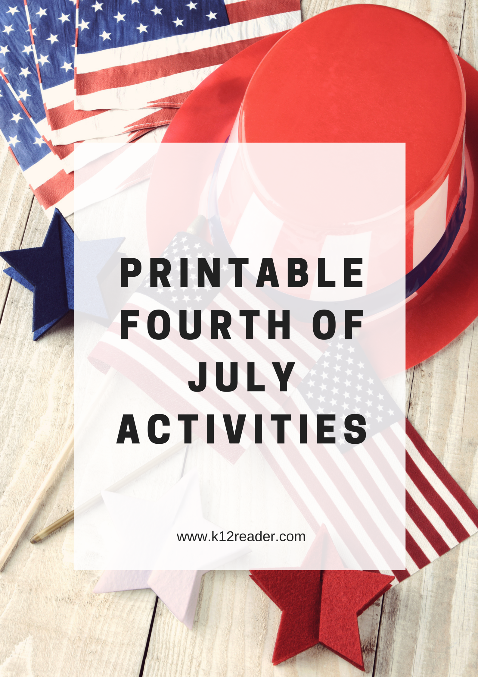 Free Printable Classroom Activities For The 4th Of July