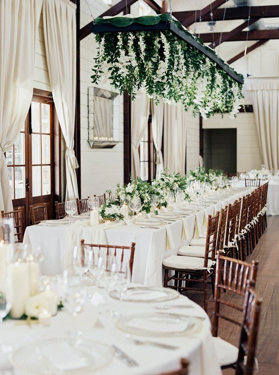 Wedding decorations venue october 2018 Hanging Florals Created a WOW Reception Design in   Dream