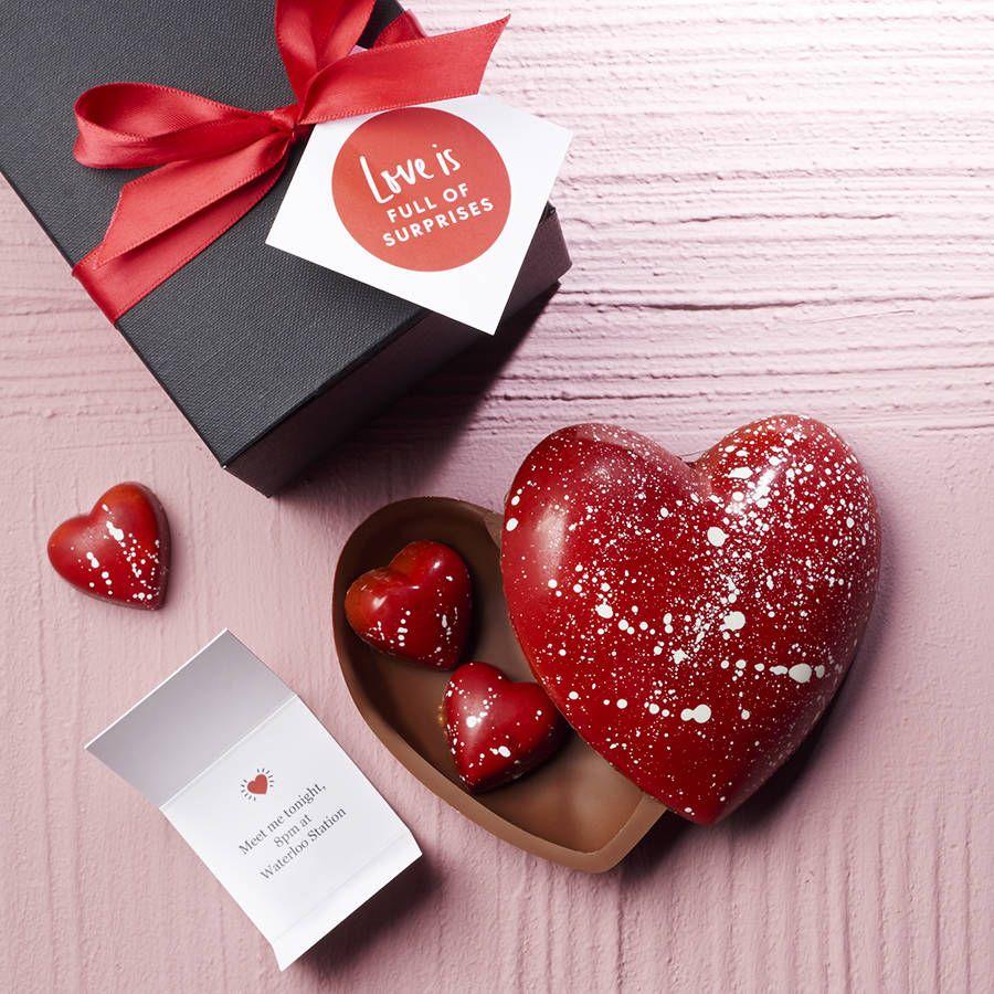 Artisan Chocolate Heart With Hidden Message Chocolate Hearts