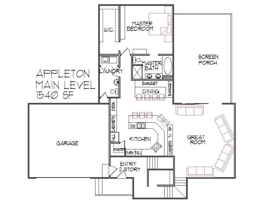 3 bedroom 3 bath split level architect designed home plans House plans iowa