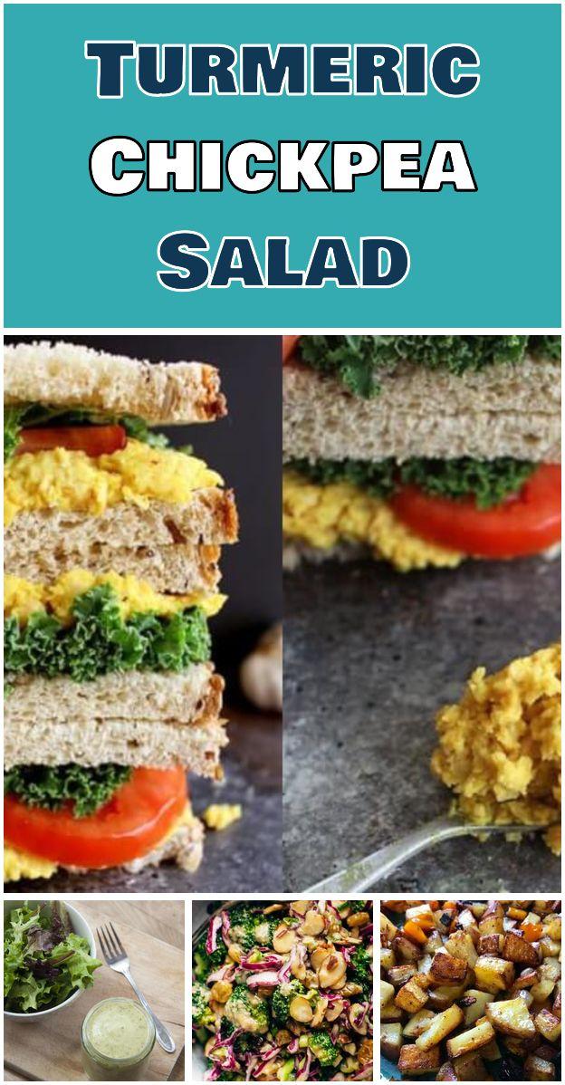Turmeric Chickpea Salad Turmeric Chickpea Salad Sandwich
