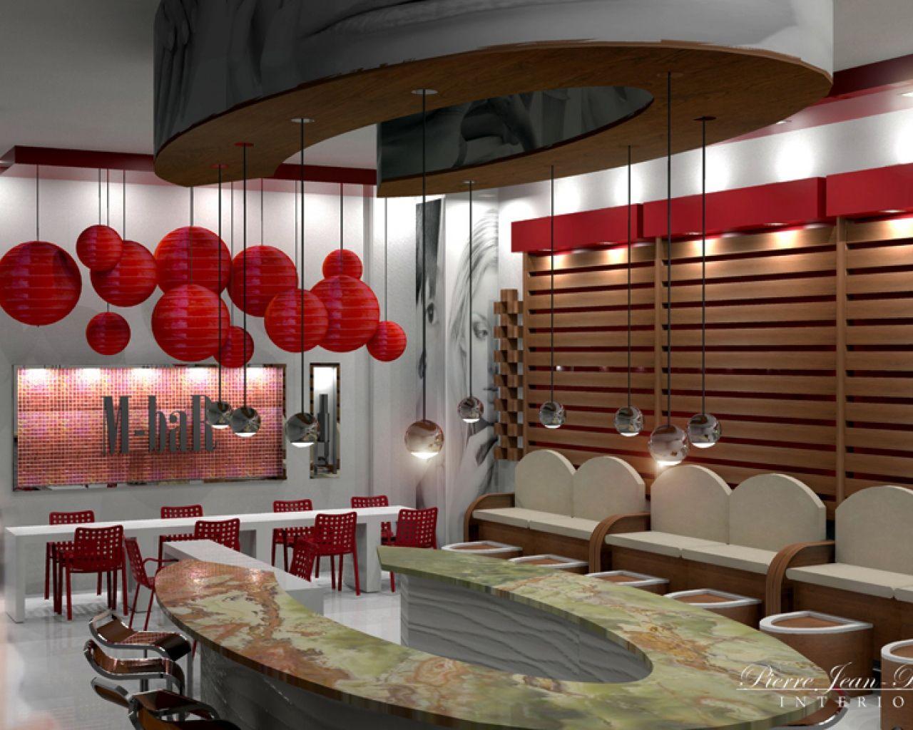 Pierreji Com Nail Bar Interior Design Commercial Salon