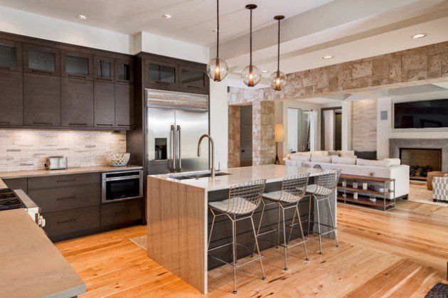 17 beautiful open concept kitchen designs in modern style for Concepto de cocina abierta