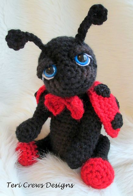 Ladybug Crochet Pattern Cute Ideas Easy Video Tutorial | Pinterest ...