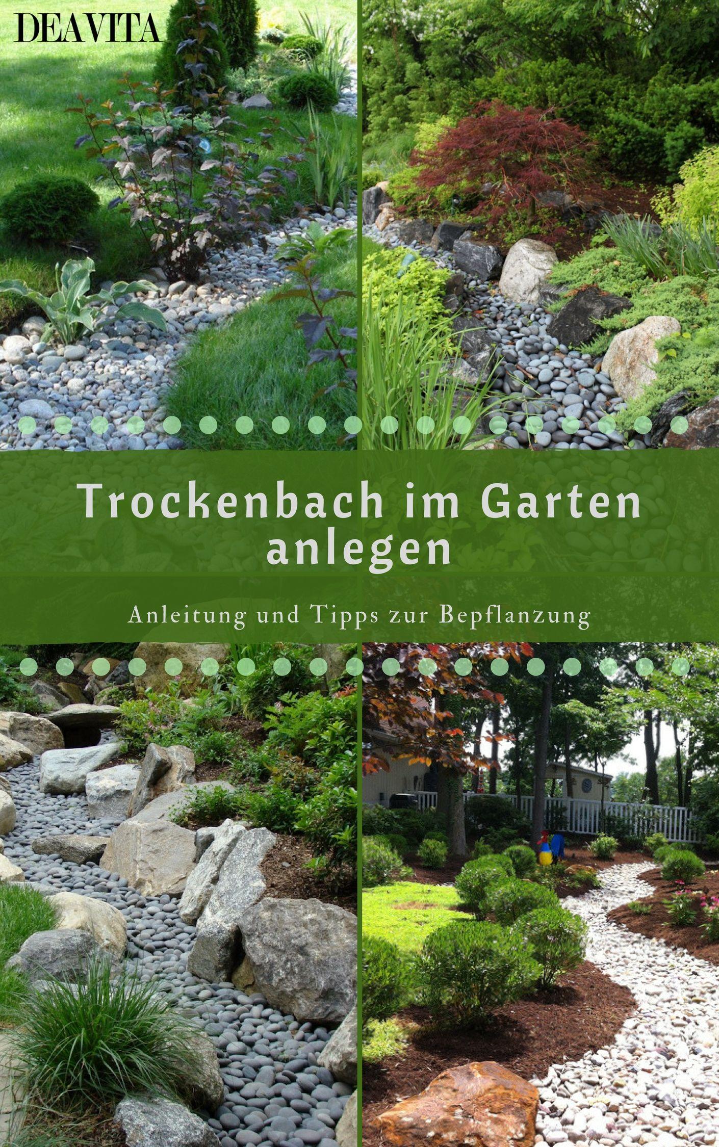 Ein Trockenbach Im Garten Ist Nicht Nur Asthetisch Anspruchsvoll Sondern Erweist Sich Auch Als Eine Praktische Lo Garten Landschaftsbau Garten Garten Anlegen