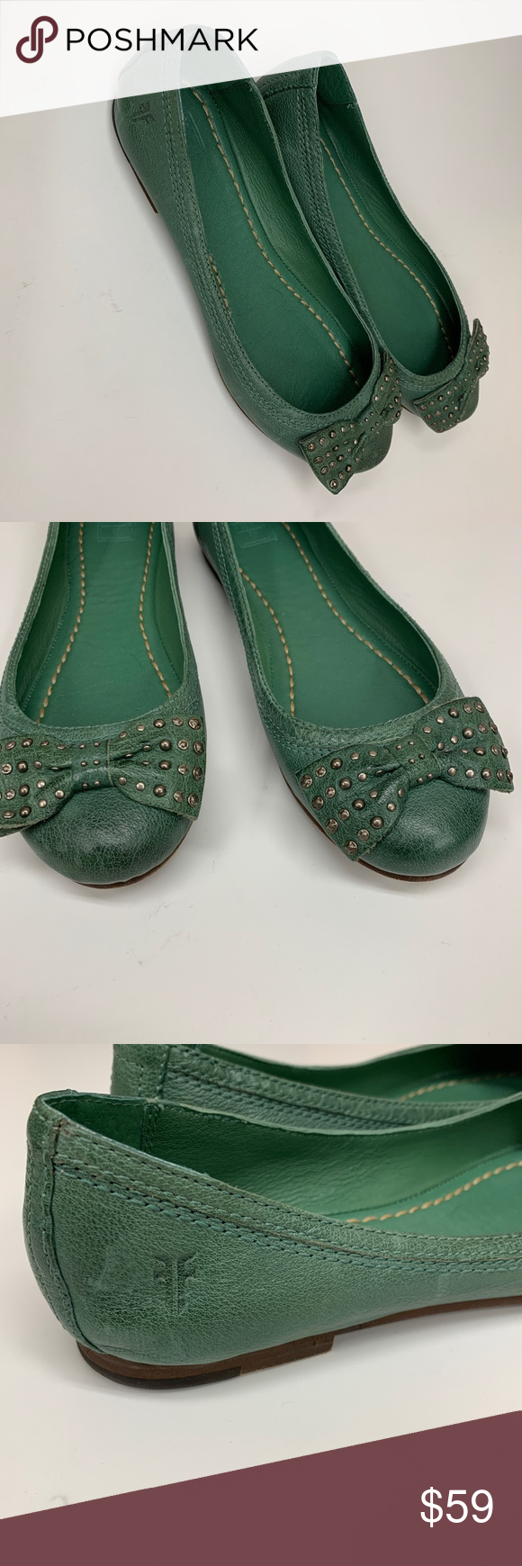 6f2b3427268 FRYE Carson Bow Green Ballet Flats 8 M FRYE Carson Bow Green Ballet Flats 8  M Same or next day shipping! Accepting reasonable offers. No trades