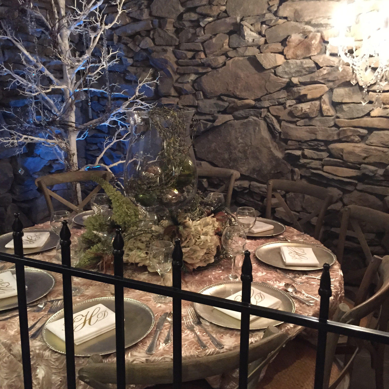 Gorgeous rustic table setting at Grove Park Inn Asheville