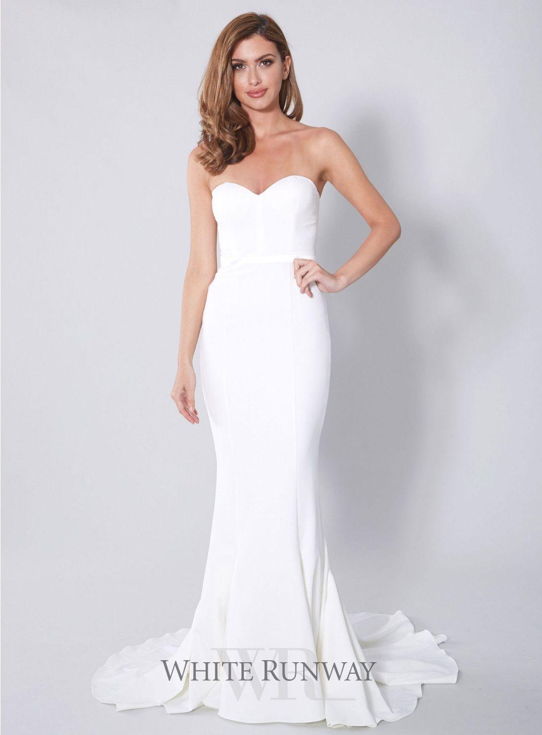 White arianna dress bride looks pinterest wedding weddings