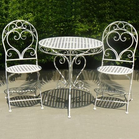 Chatsworth Cream Outdoor Bistro Table and Chair Set | Dunelm Mill ...